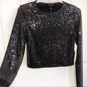 TOPSHOP💫Sequin Crop Top
